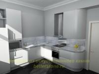 Дизайн-проект кухни в белом цвете
