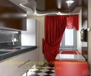 Шоколадный оттенок в интерьере кухни