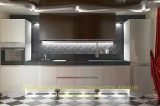 Дизайн-проект кухни в стиле хай-тек