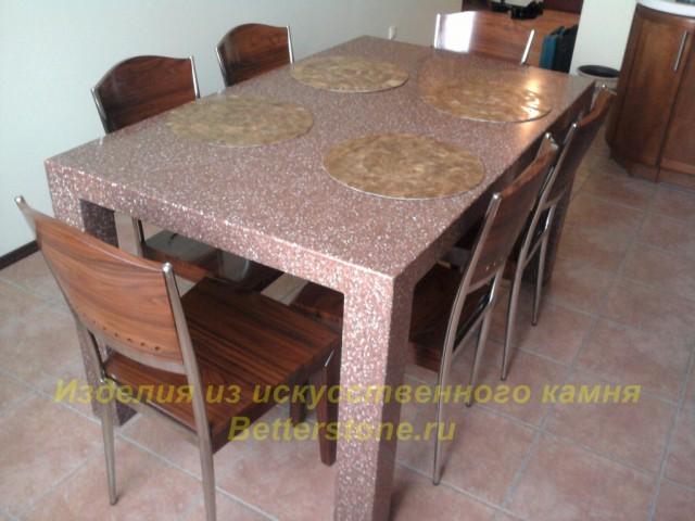 Обеденные столы со столешницей из искусственного камня