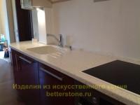 Белая столешница в вашей кухне