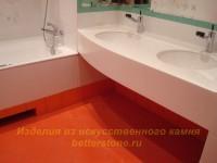 Столешница с высоким бортом в ванную
