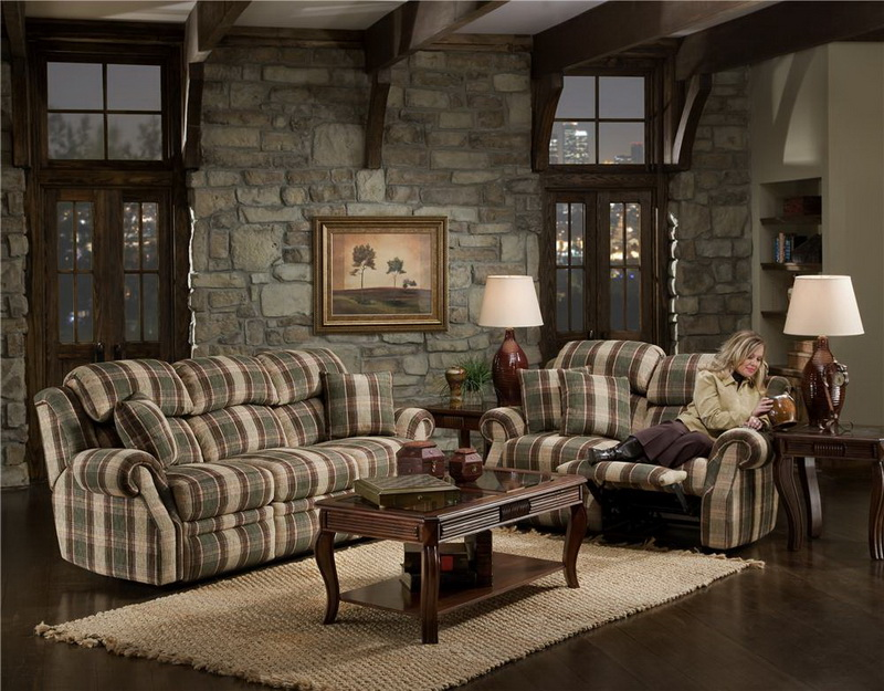 Living-Room-with-Rustic-Interior-Designs-with-Stone-Wall-Decoration